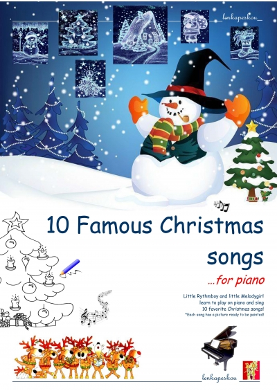 10 FAMOUS CHRISTMAS SONGS FOR PIANO - ΛΕΝΚΑ ΠΕΣΚΟΥ ebook