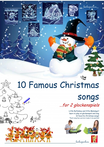 10 FAMOUS CHRISTMAS SONGS FOR 2 GLOCKENSPIELS - ΛΕΝΚΑ ΠΕΣΚΟΥ ebook